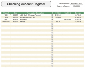 checkbook register template free iwork templates