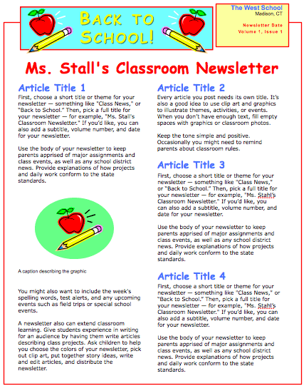 School Newsletter Template School Newsletter Template sC9syLT1
