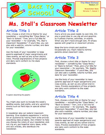 School Newsletter Template School Newsletter Template sC9syLT1