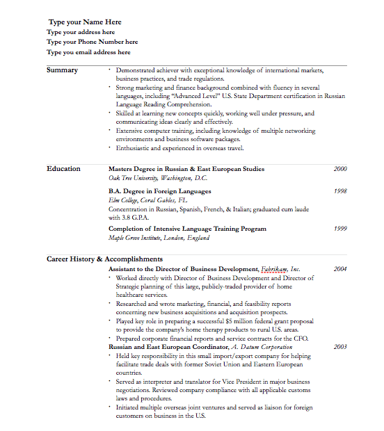 resume template for pages free iwork templates