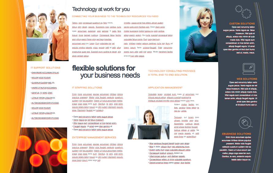technology 11 x 17 brochure template free iwork templates