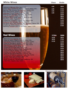Wine List Template
