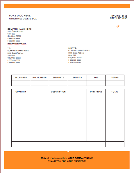 iwork invoice template free – residers, Invoice templates