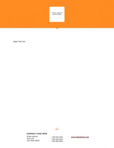 Modern Solid Letterhead Template