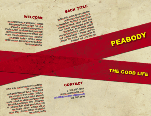Peabody Parchment Brochure Template