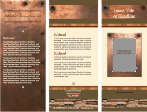 Realty Stylish Brochure Template
