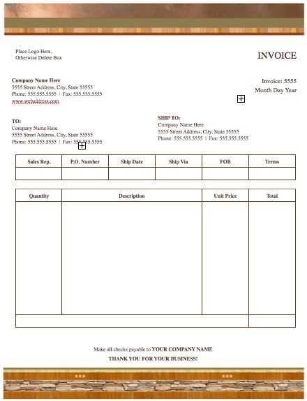 realty stylish invoice template - free iwork templates, Invoice templates