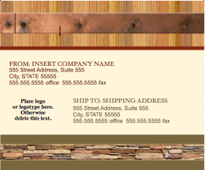 Realty Stylish Shipping Label Template