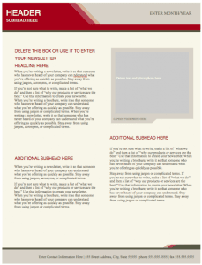 Health Stylish Newsletter Template