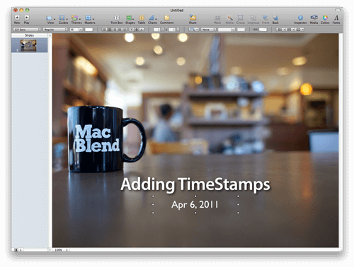 Add Time Stamps To Keynote and Pages