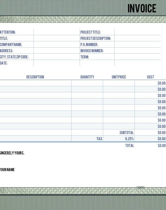 Timeless Legal Invoice Template For Numbers | Free Iwork Templates