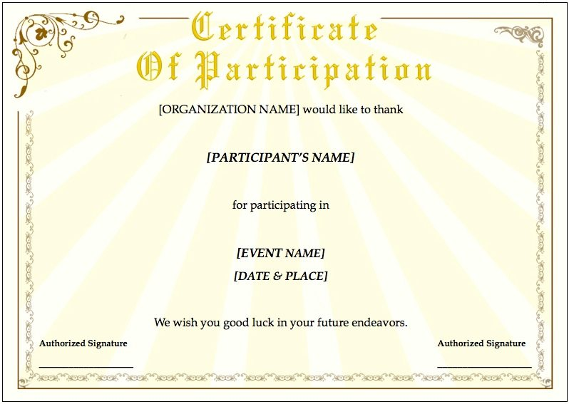 Training Certificate Template for Pages Free iWork Templates – Certificate Printable Templates
