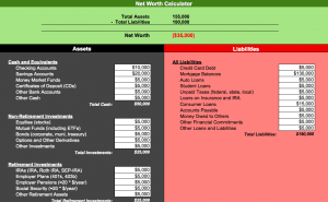 Net Worth Calculator for Numbers