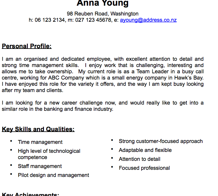 Traditional CV Template for Pages - Free iWork Templates