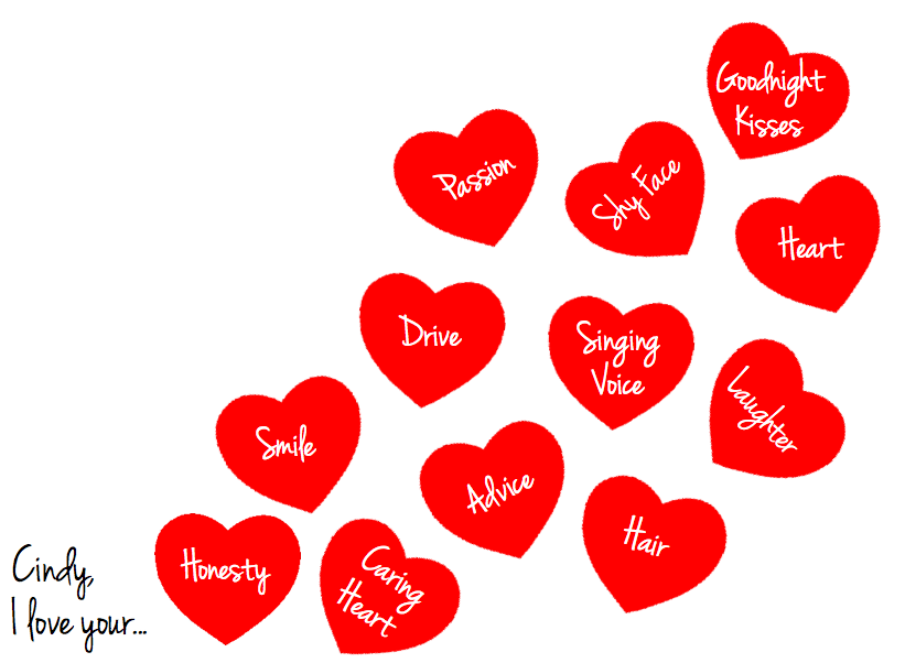 Customizable Valentines Day Card for Pages - Free iWork Templates
