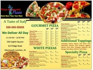 Pizzeria Menu Template