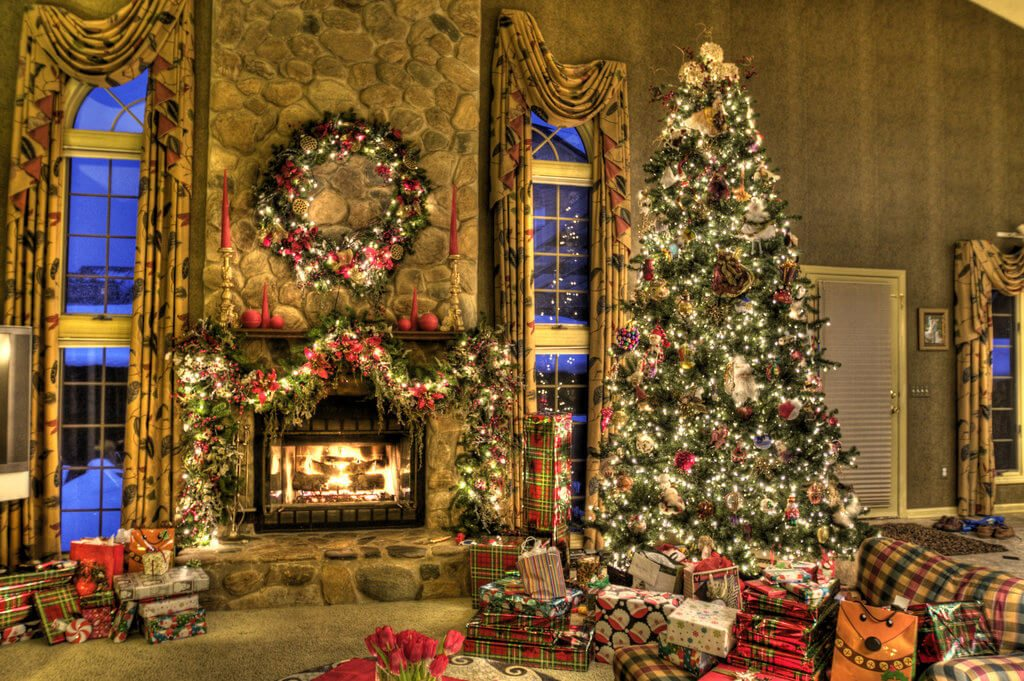 Fireplace Christmas Card Template For Pages | Free iWork
