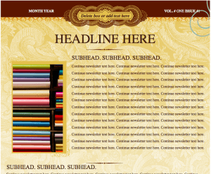 Trendy Eclectic Newsletter Template