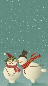 Kissing SnowmanPages Christmas Card Template