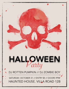 Scary Skull Halloween Flyer Template