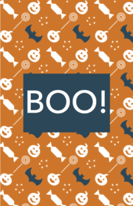 Fun Orange Halloween Invitation Template