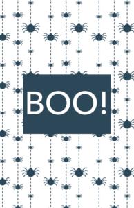 Fun White Halloween Card Template