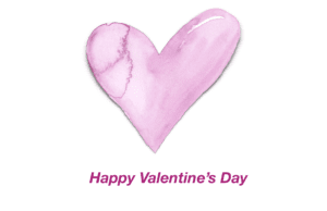 Pink Watercolor Heart Valentine's Day Card Template