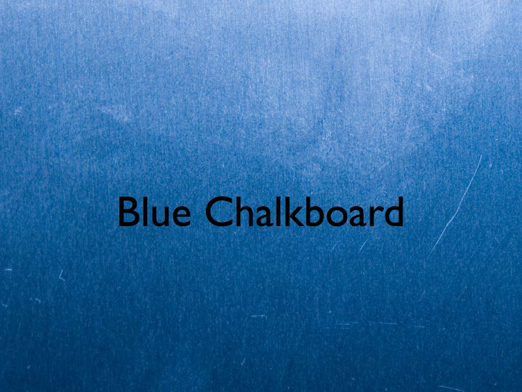 blue chalkboard keynote template