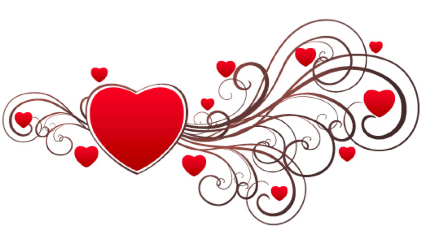 Swirl Valentines Day Card Template
