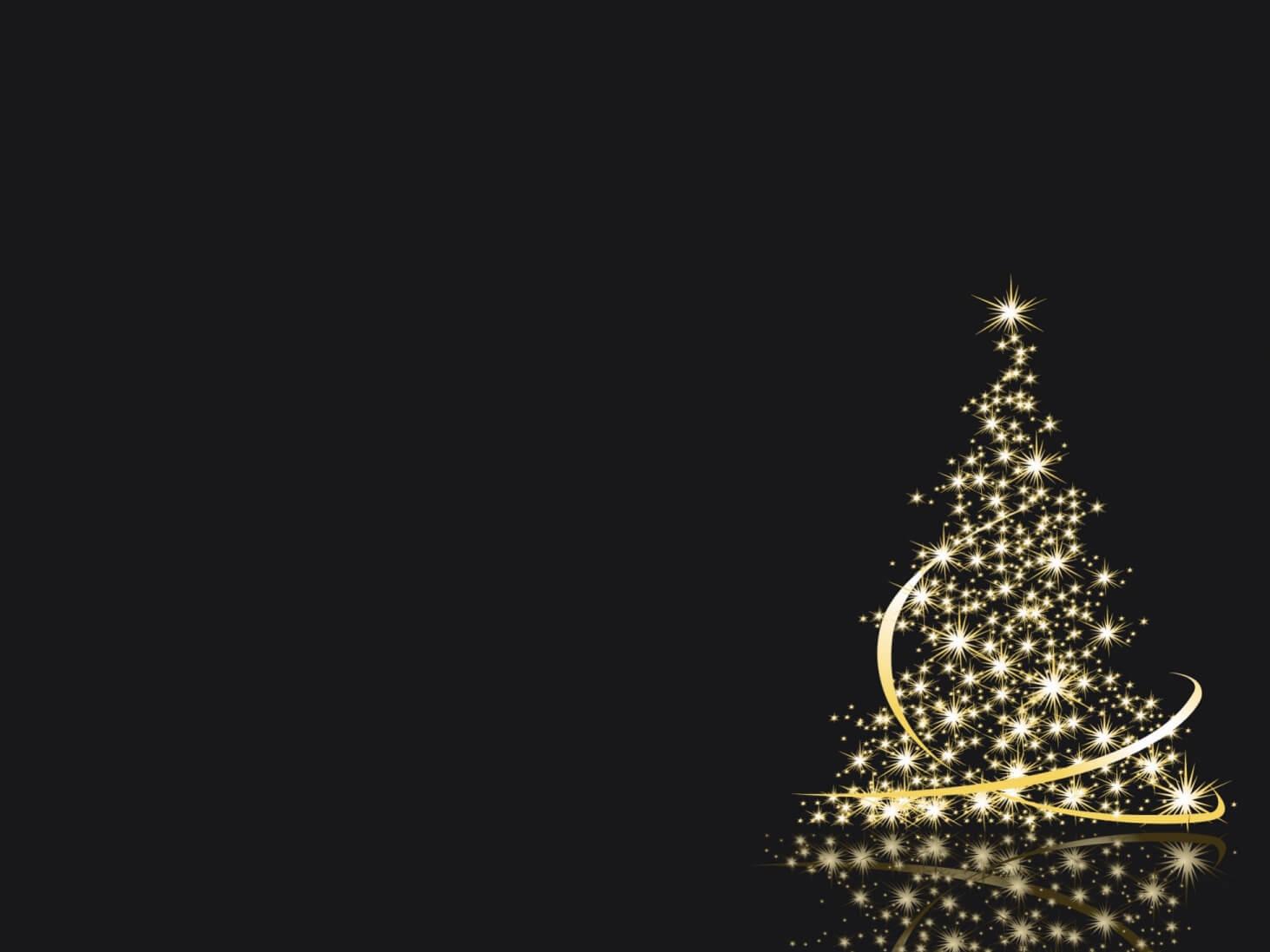 Abstract Golden Christmas Tree Artwork Wallpaper